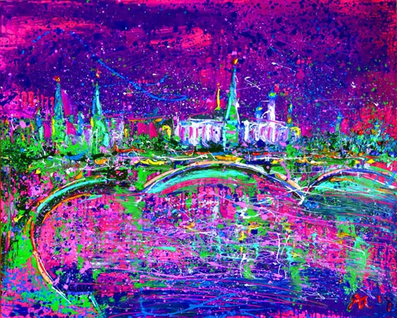 Картина маслом на холсте Москва