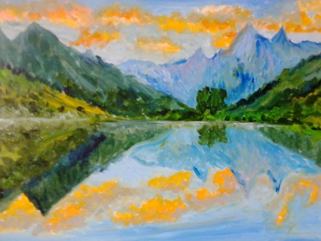 Горное озеро 4Горная река 3