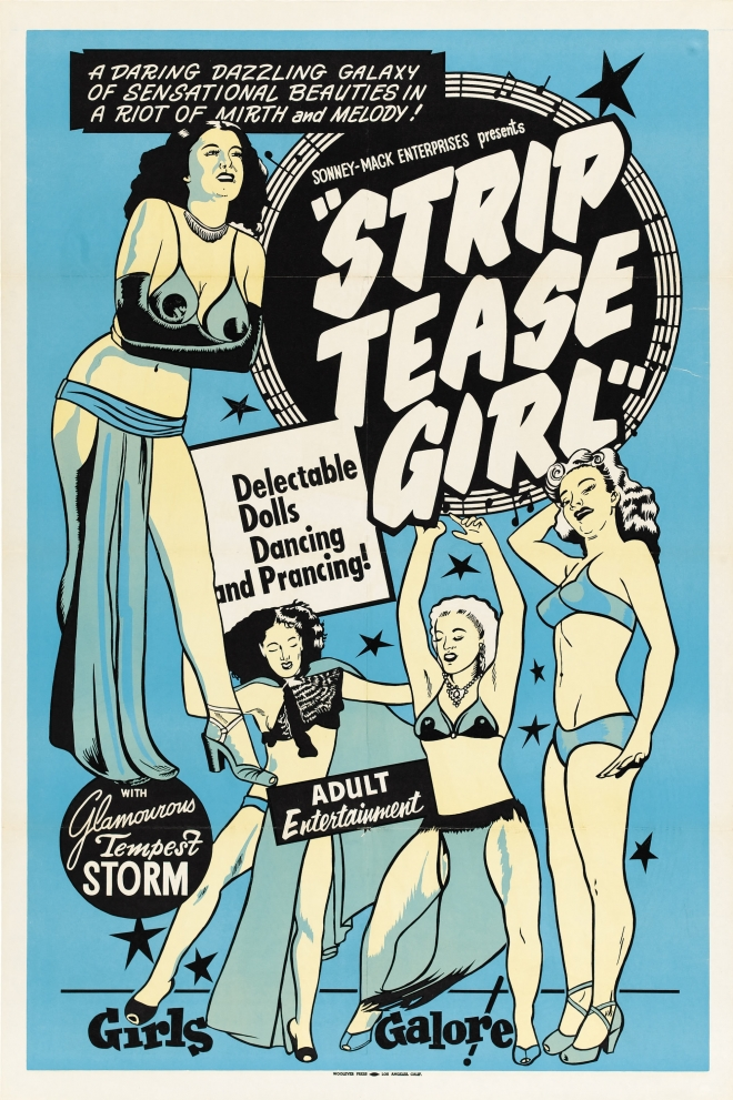 Стриптиз - винтажный постер