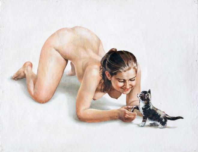 Маша с котёнком