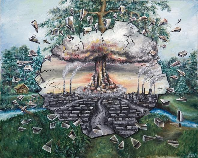 Картина маслом на холсте Перспектива развития