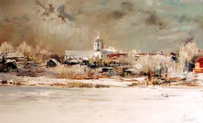 Картина на холсте Вид на Ильинскую церковь. Зима