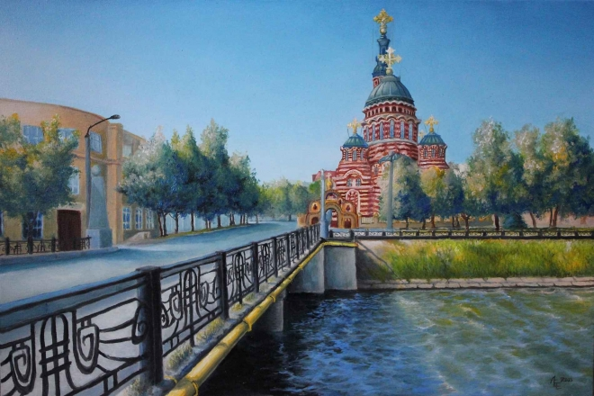 Вид на Благовещенский храм, г. Харьков