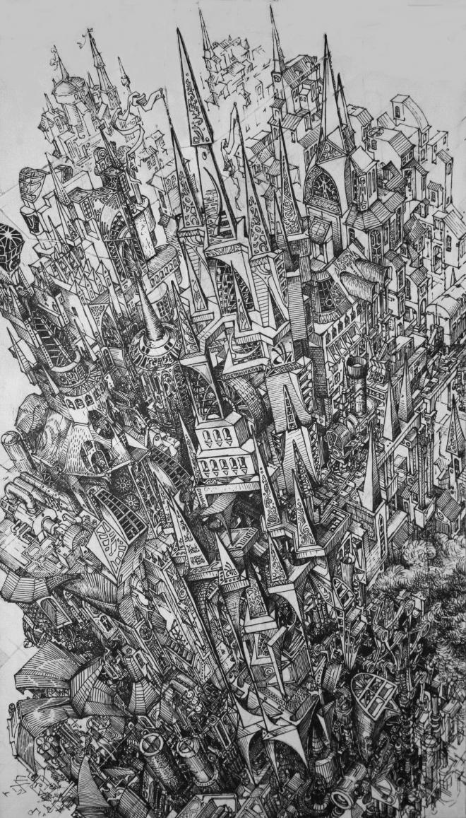 Картина Архитектурная фантазия / Architectural fantasia