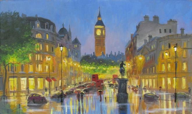 Вечерний Лондон, Трафальгарская площадь