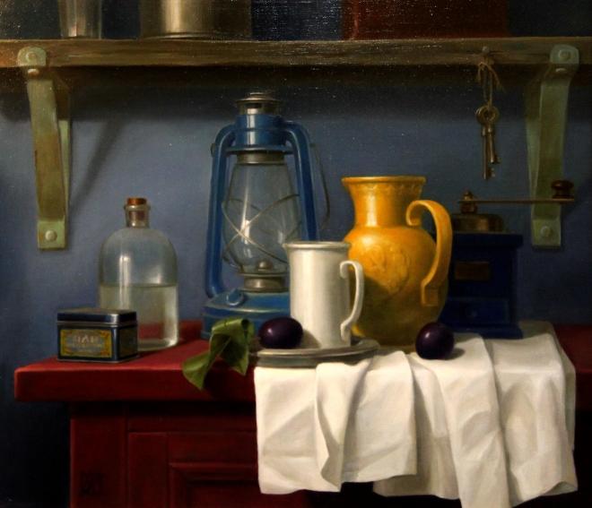 Картина маслом на холсте Натюрморт с кувшином 30-х годов