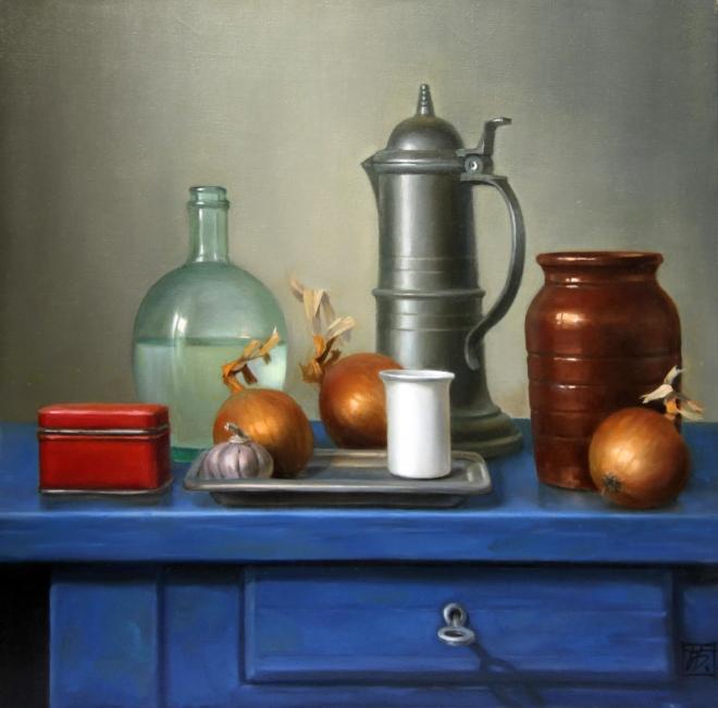 Картина маслом на холсте На старой кухне