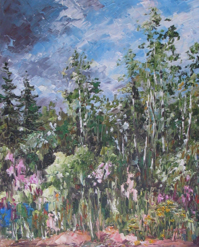 Картина маслом Огуднёвское лесничество