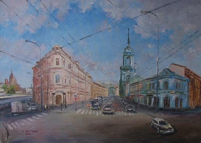 Картина маслом Пятницкая улица и Овчинниковская набережная