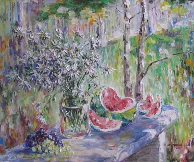 Картина маслом Медовый арбуз