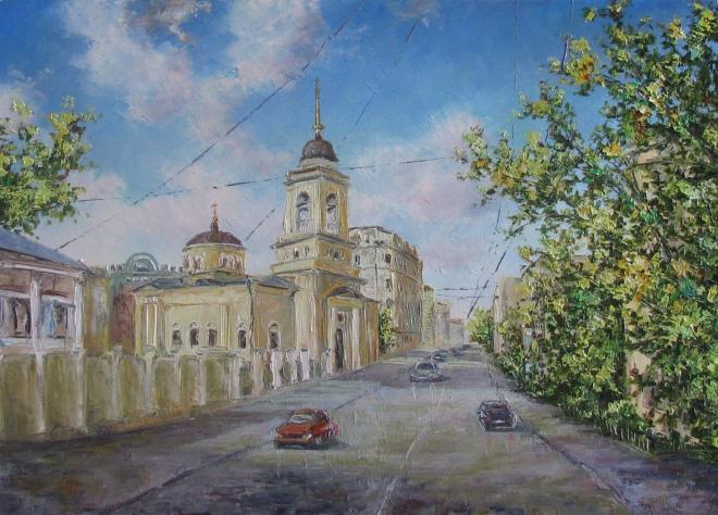 Картина маслом Церковь Афанасия и Кирилла На Сивцевом Вражке