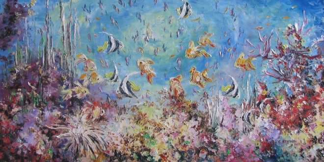 Картина маслом Подводное царство