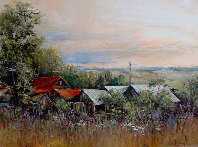 Картина маслом на холсте Село Рамено
