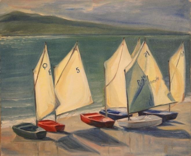 Яхты на берегу