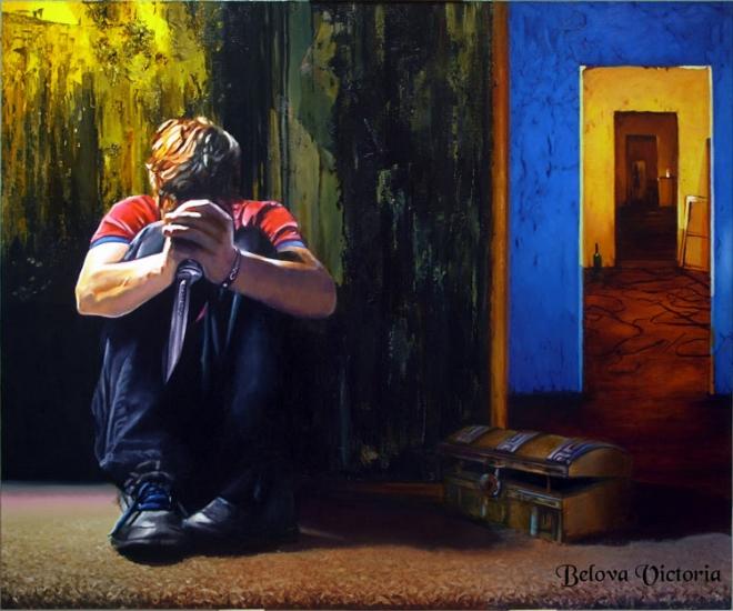 Картина маслом на холсте Ревность.Пять врат