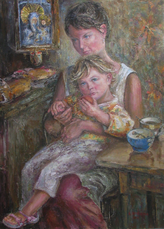 Картина маслом Богородица