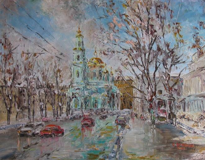 Картина маслом Елоховский собор