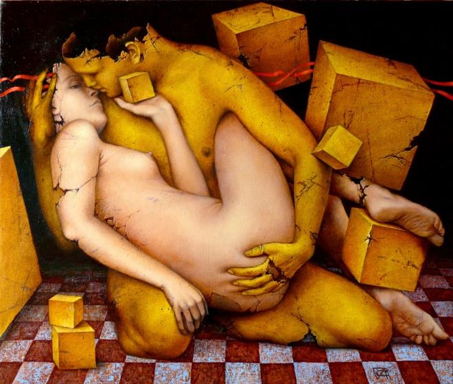Негеометральность кубической любви