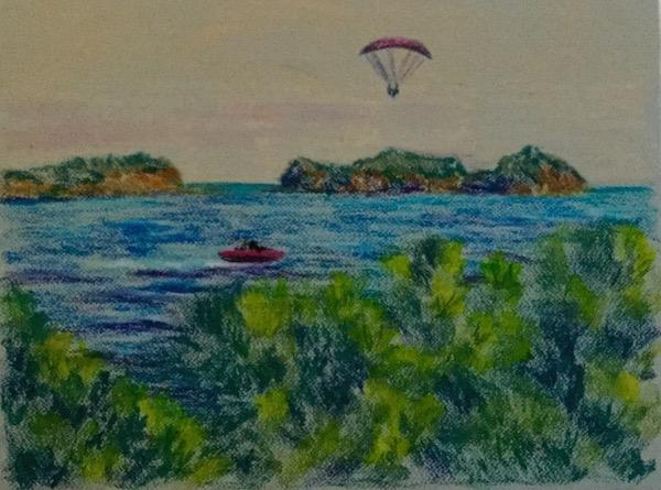 Картина Текирова. Три острова.