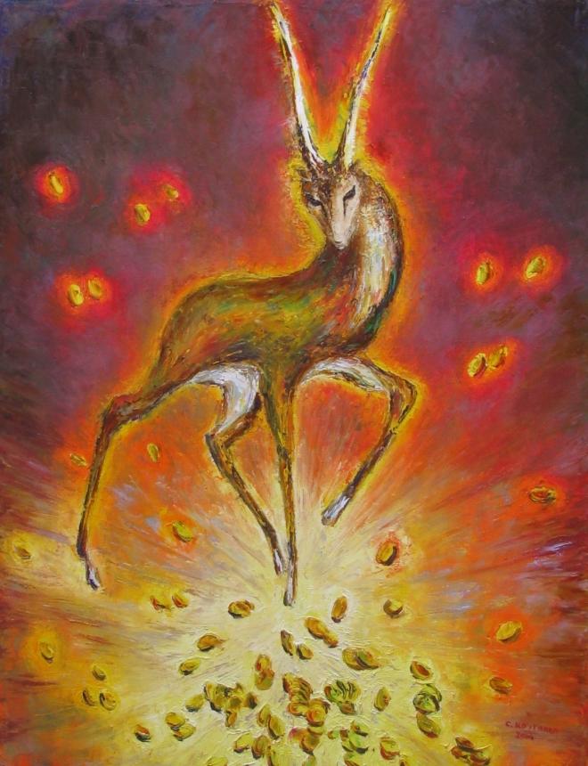 Картина маслом Золотая антилопа