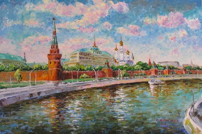 Картина маслом Москва Златоглавая