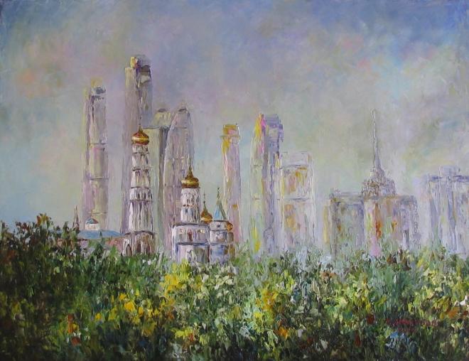 Картина маслом Купола и Башни