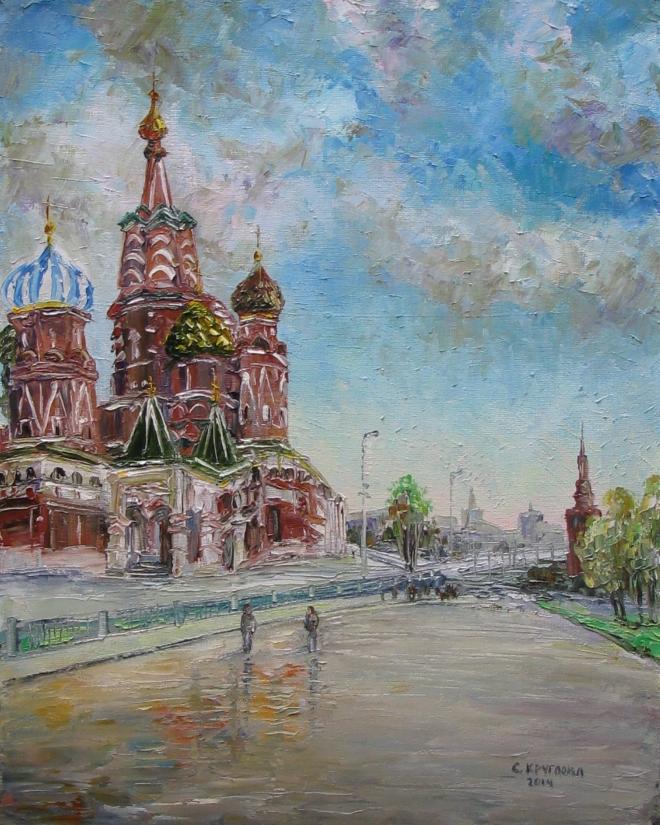 Картина маслом Собор Василия Блаженного