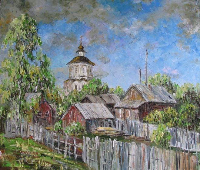 Картина маслом Кострома