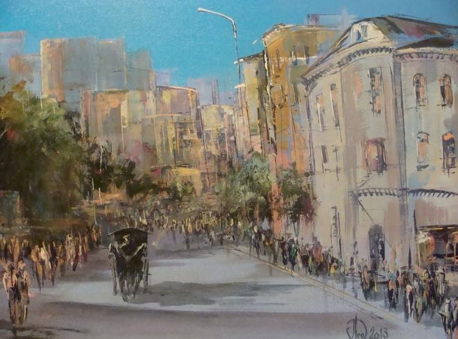 Картина на холсте Городской бульвар