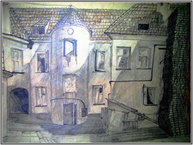 Двор в cтаром Вильнюсе