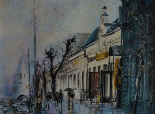 Картина маслом на холсте Улица Советская