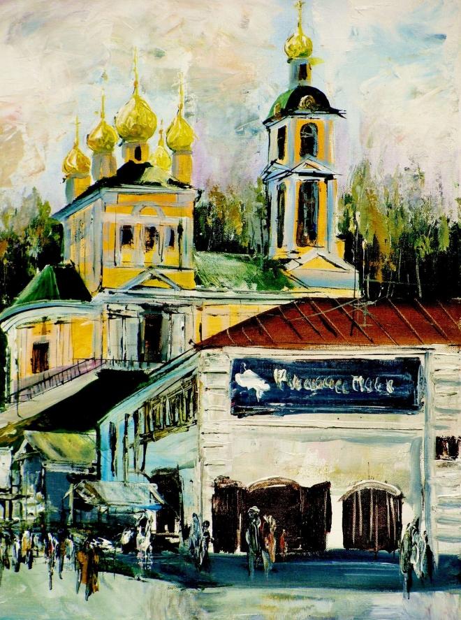 Картина на холсте Плёс.Воскресенская церковь