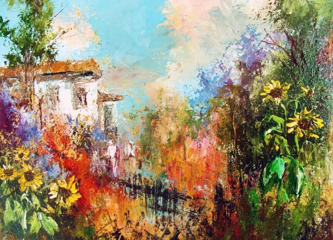 Картина маслом Южный дворик
