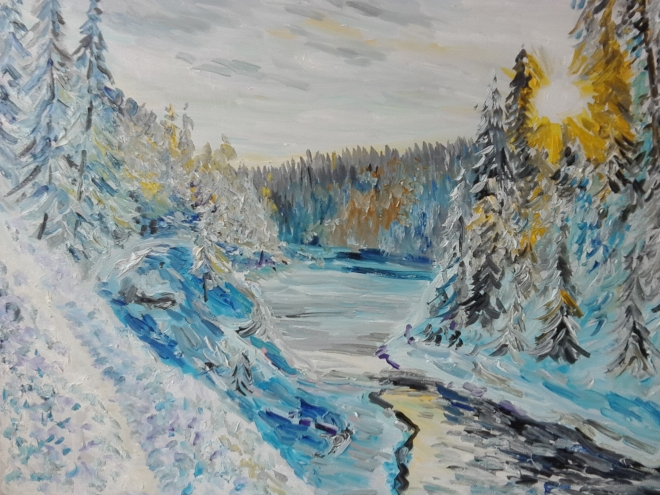 Зимний пейзаж 4