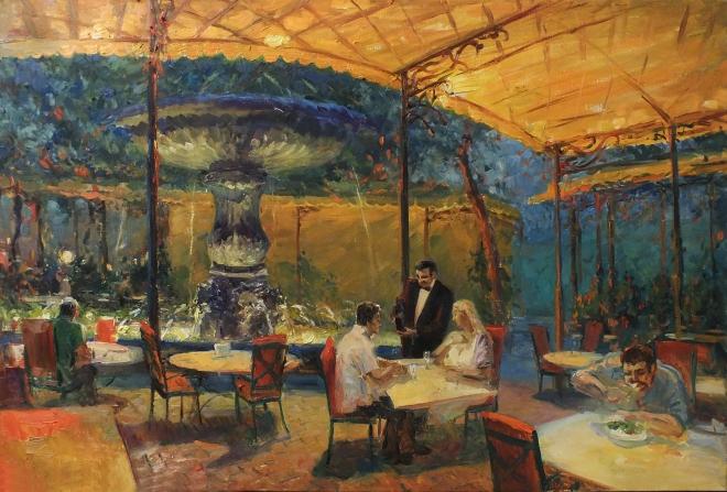 Ужин при свете фонарей