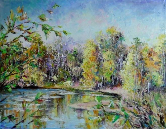 Картина маслом Осенняя мелодия