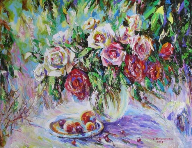 Картина маслом Персидская слива