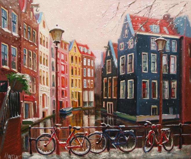 Первый снег в Амстердаме