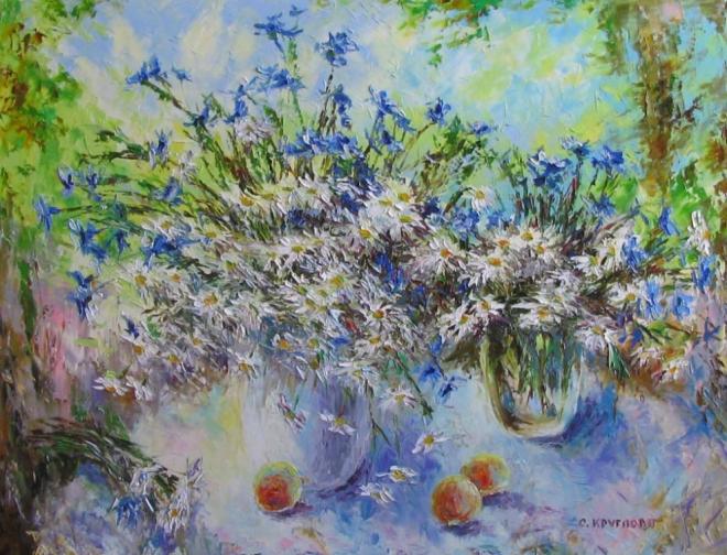 Абрикосы и полевые цветы