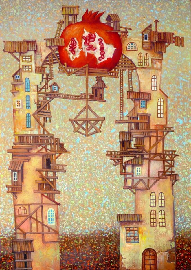 Картина маслом на холсте Гранатовая арка