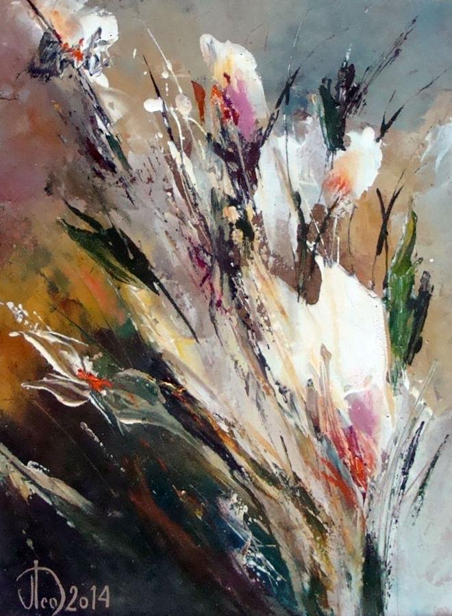 Картина маслом на холсте Букет цветов