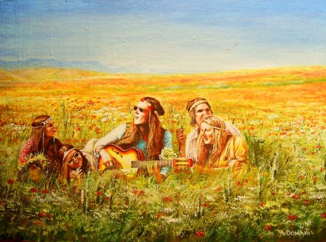 """Картина маслом на холсте """"... времена , когда мы навсегда уходили из дома """""""