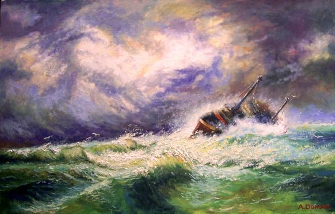 Картина маслом на холсте ШТОРМ