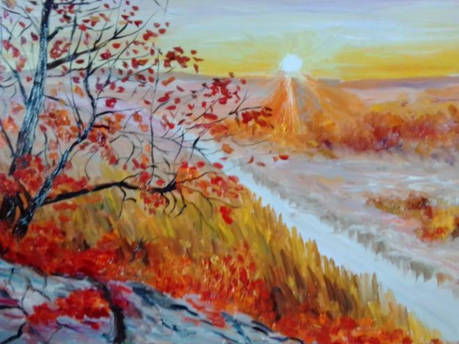 Восход осенью