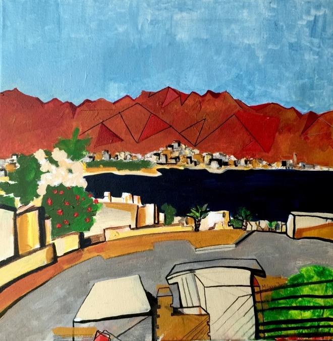 Вид на Иорданию из Эйлата