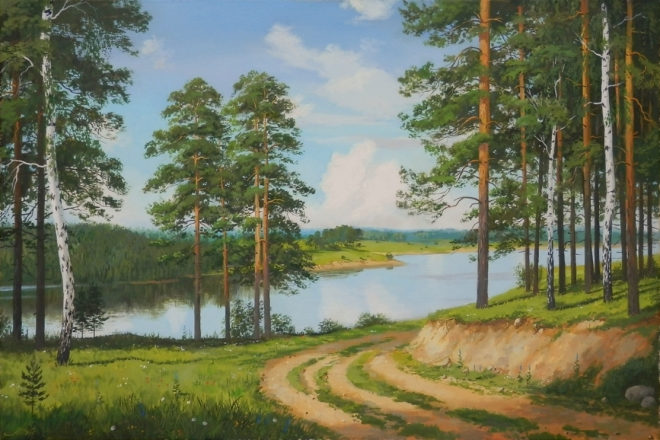 Спуск к реке из леса