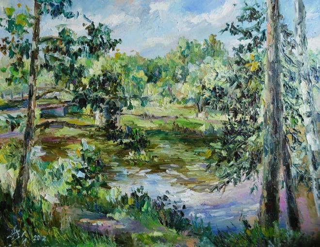 Картина маслом Уральская экзотика