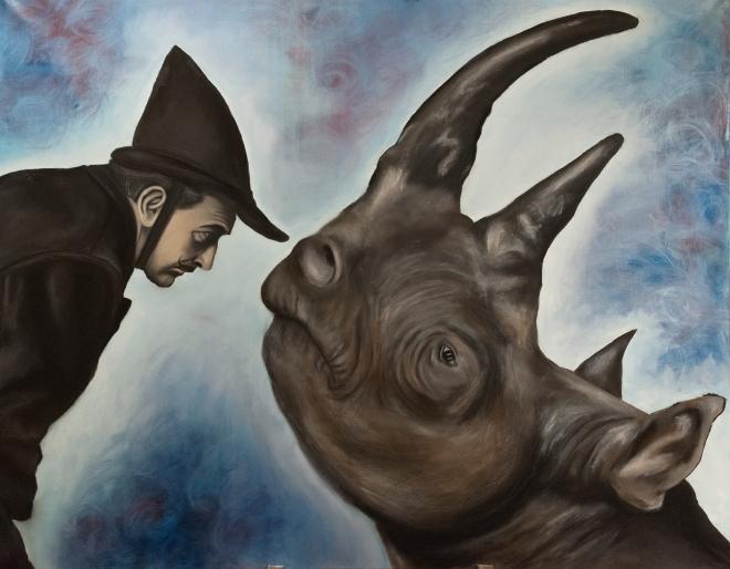 Сальвадор Дали и Носорог