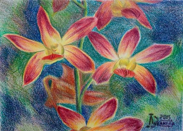 Картина Ветка орхидеи 2