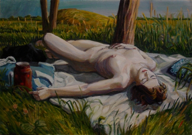 Спящая на поляне
